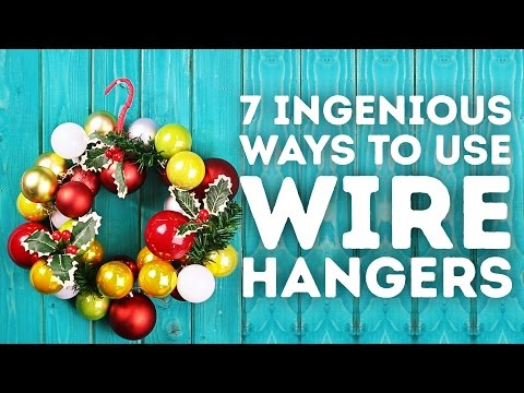 7 ingenious ways to use wire hangers l 5-MINUTE CRAFTS