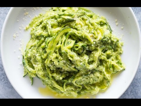 Zucchini Pasta (Zoodles) with Avocado Sauce