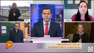 Rohamosan terjed a koronavírus Európában