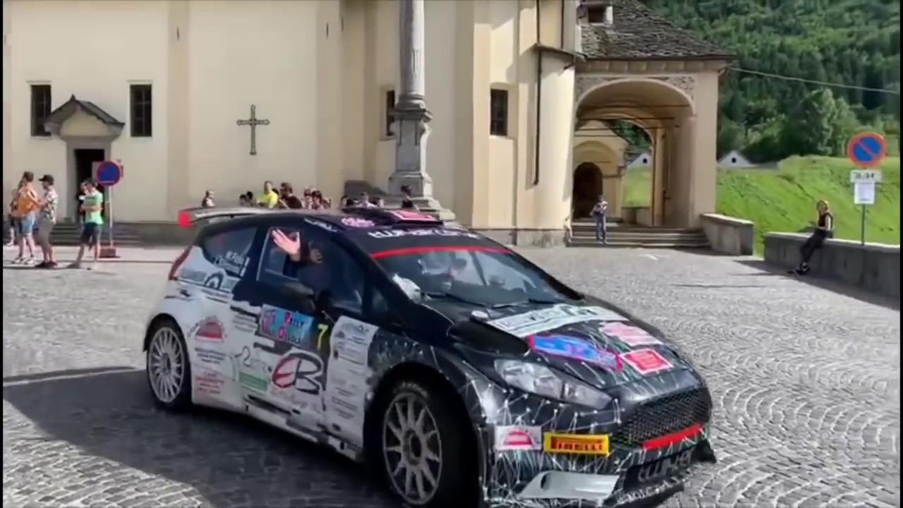 55 Rally Valli Ossolane interviste equipaggi al traguardo