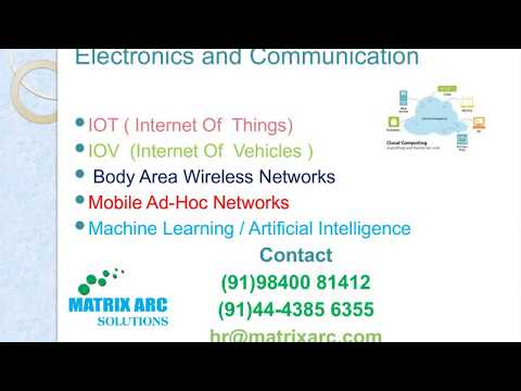 Latest New MTech ME Project Topics In Electronics And Communication