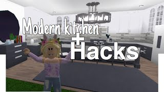 Modern Kitchen + Hacks! In Bloxburg | Roblox