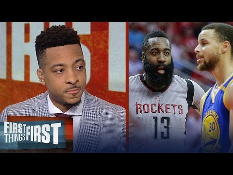 CJ McCollum: Game 1 sets the tone in Warriors - Rockets playoff series | NBA | FIRST THINGS FIRST