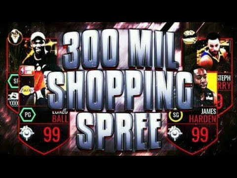 300 MILL COINS SHOPPING SPREE!! *WORLD RECORD* | NBA LIVE MOBILE!