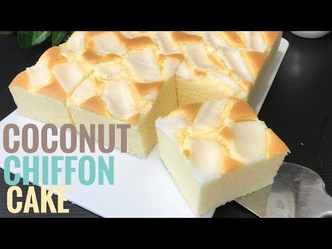 Coconut Chiffon Cake With Coconut Milk Recipe 🥥🥥  Cooking ASMR