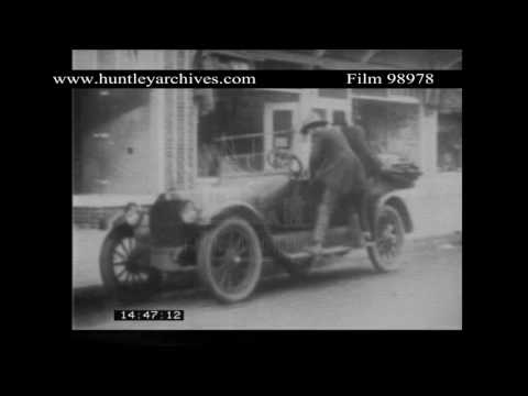 Slapstick Chase.  Archive comedy film 98978