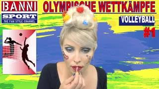 Volleyball Voleibol #1 - Olympic Wettkampf - Original Banni Sport Fan Style & Make-up