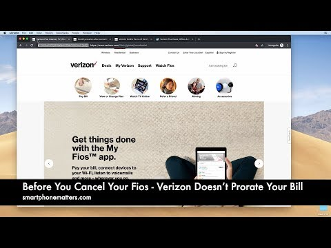 Before You Cancel Your Fios - Verizon Doesn't Prorate Your Bill