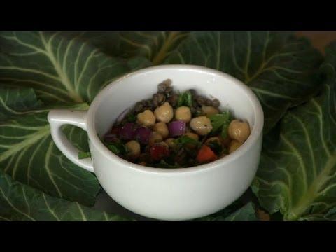 Lentil & Chickpea Salad : Lentil Recipes