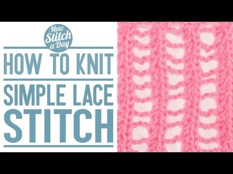 How To Knit The Simple Lace Stitch English Style Youtube