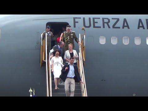 Chilean President Bachelet arrives in PH