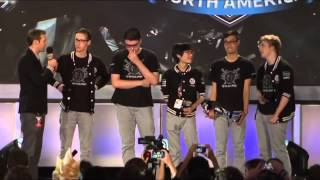 LCS Summer Playoffs Finals 2014 // TSM Win (Dyrus is emotional on stage)