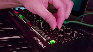 Roland SE-02 - First Day Fiddling - Just Music - From Tame to Aggressive