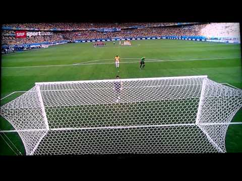 Brazil vs Chile (Penalty) Penali 2014