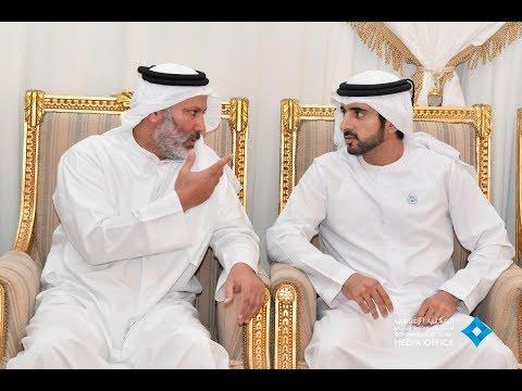 ولي عهد دبي يقدم واجب العزاء لأسرة الشهيد سعيد الهاجري