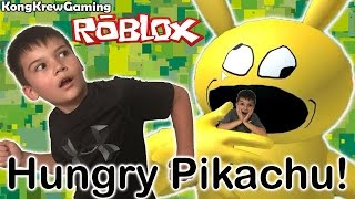 Hungry Pikachu Tries to eat KBSharkster in Roblox!