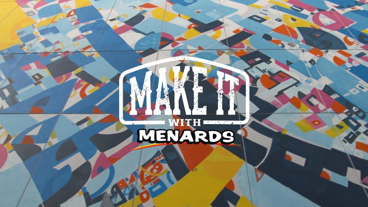 Make It With Menards – Artist Justus Roe - YouTube