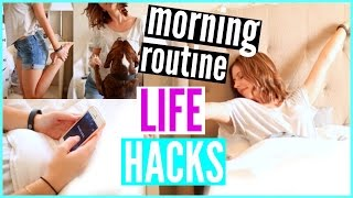10 Morning Routine LIFE HACKS That Every Girl Should Know | Courtney Lundquist