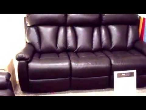 reveiw of la z boy georgia in leather the most comfortable sofa in the world youtube. Black Bedroom Furniture Sets. Home Design Ideas