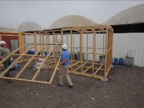 Prefabricated glued laminated timber frame youtube for Prefab framing