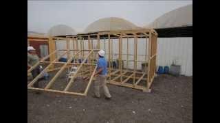 Prefabricated Glued Laminated Timber Frame