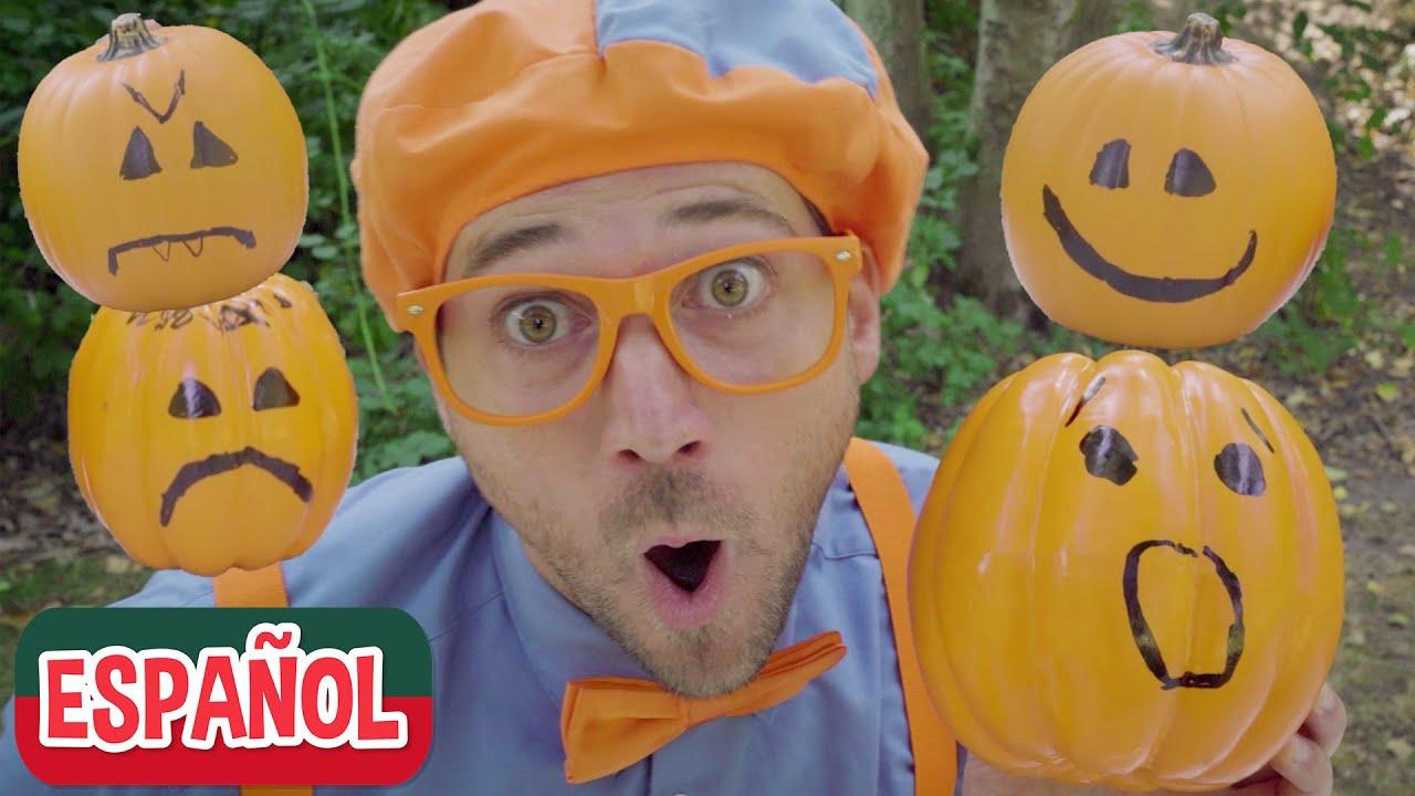 Blippi Aprende las Emociones con Calabazas de Halloween | Videos de halloween para niños