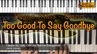 Bruno Mars - Too Good To Say Goodbye Easy Piano Tutorial FREE Sheet Music NEW Song Cover 2016