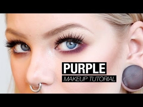 Makeup Experiment: Purple Under Eyes