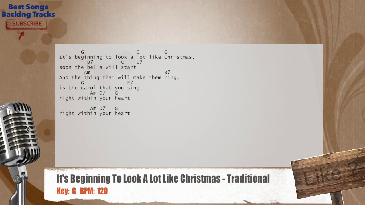 It\'s Beginning To Look A Lot Like Christmas - Traditional Vocal ...