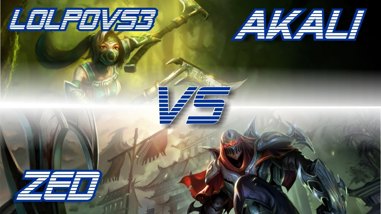 LoLPoV - Akali vs Zed [Mid] (League of Legends Live Commentary)
