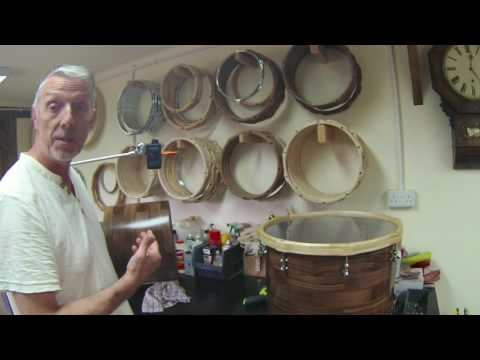 Drum shell fundamental frequencies test - adding hardware