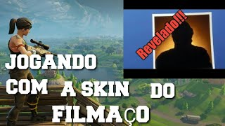 PLAYING a MATCH WITH the SKIN of the FILMING-Fortnite Battle Royale