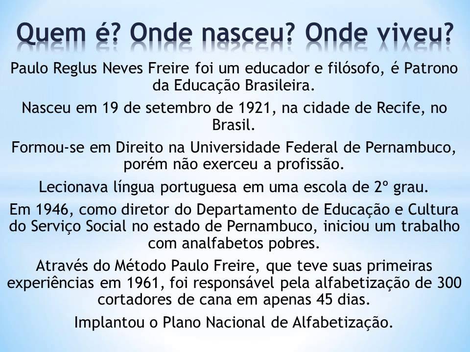 Paulo Freire (1921—1997)