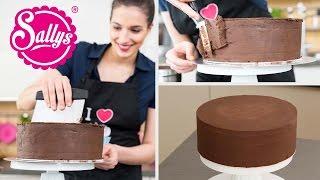 Torten glatt streichen mit Ganache / Sallys Basics / Motivtorten / How to