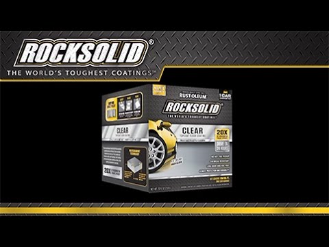 How To Video Ly Rocksolid Clear Top Coat Floor Coating Home Depot You
