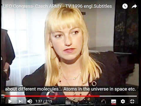 UFO Congress Czech ARMY - TV 1996  ILona Podhrazska ,subtitles cc.-