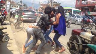 Live nepali Road fighting