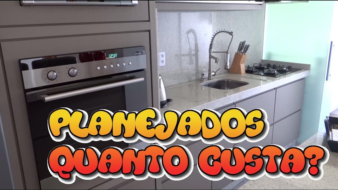 Quanto Custa Móveis Planejados  Apartamento Pequeno  YouTube # Quanto Custa Um Armario De Cozinha Planejado Pequeno