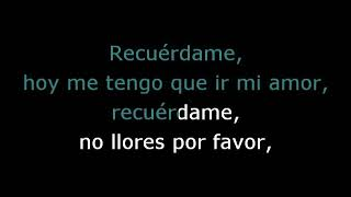 """Karaoke Carlos Rivera - Recuérdame (De """"Coco"""")"""