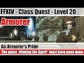 FFXIV Armorer Class Quest Level 20 - An Armorer's Pride - A Realm Reborn