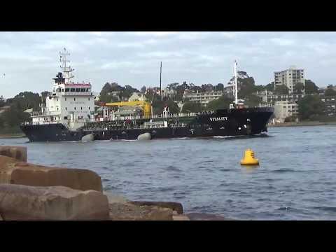 Bunkering vessel Vitality & tug Narooma on Sydney Harbour