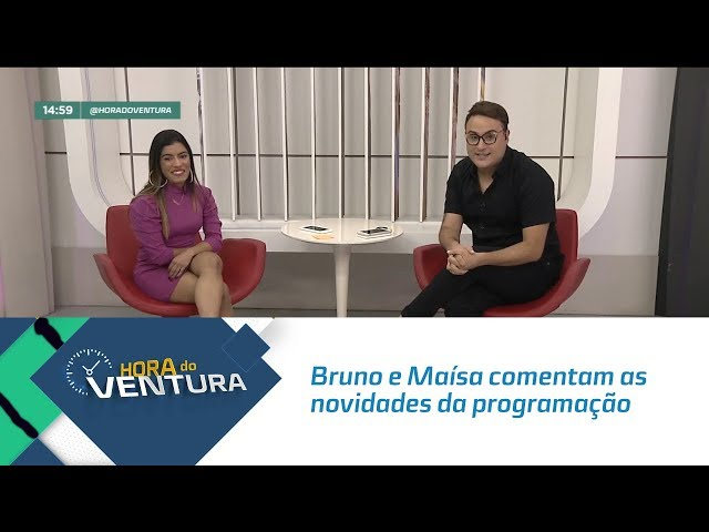 Bruno e Maísa comentam as novidades da programação e dos apresentadores da Record TV - Bloco 02
