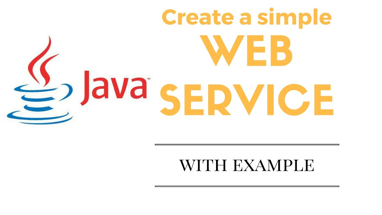 create simple web service in java the easy way