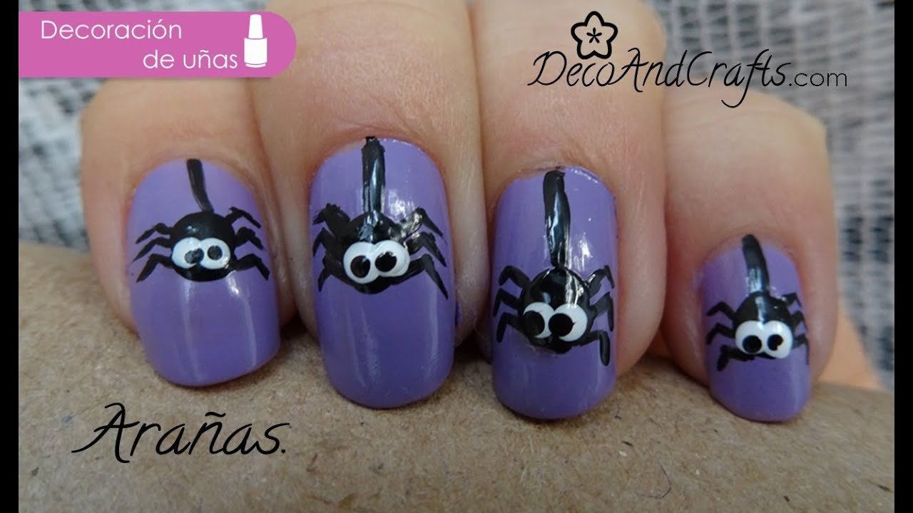 U as decoradas ara as halloween nails youtube - Decoracion de aranas ...