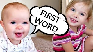 👶🏻BABY's FIRST WORD!!!