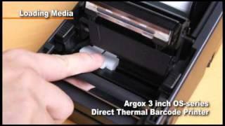 видео Термопринтер печати этикеток Argox OS-214TT Plus