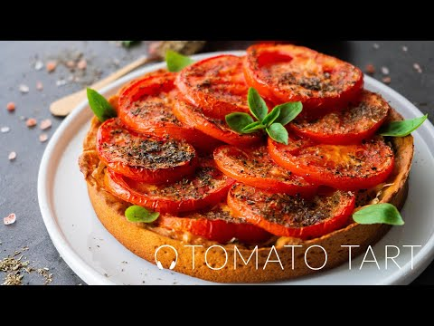 Vegan Tomato Tart / Vegan Recipes / Vegan Tart / Homemade Vegan Mayonnaise