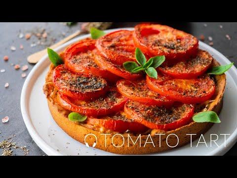 Vegan Tomato Tart / Vegan Recipes / Vegan Tart / Homemade Vegan Mayonnaise