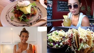 VLOG   WHAT I EAT IN A DAY - Forster Getaway