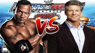 WWE Smackdown vs Raw 2008 The Rock vs Mr  Mcmahon